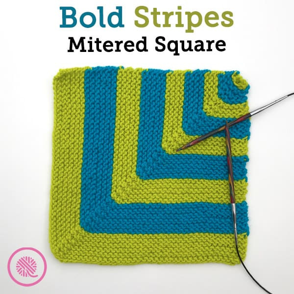 Bring on the Color with the Bold Striped Mitered Square!