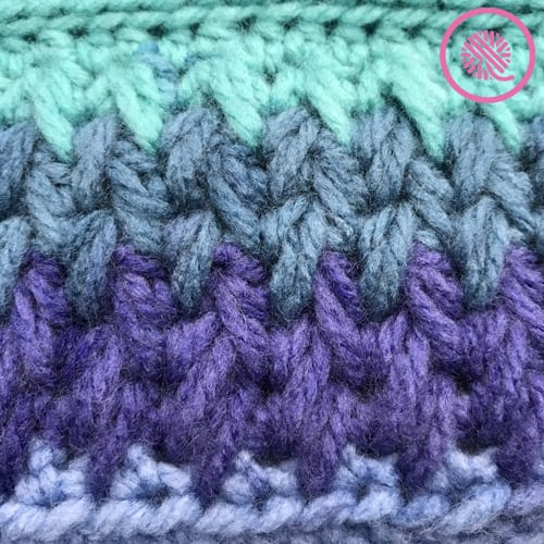 in the round feather stitch