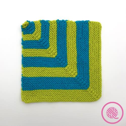 bold striped mitered square