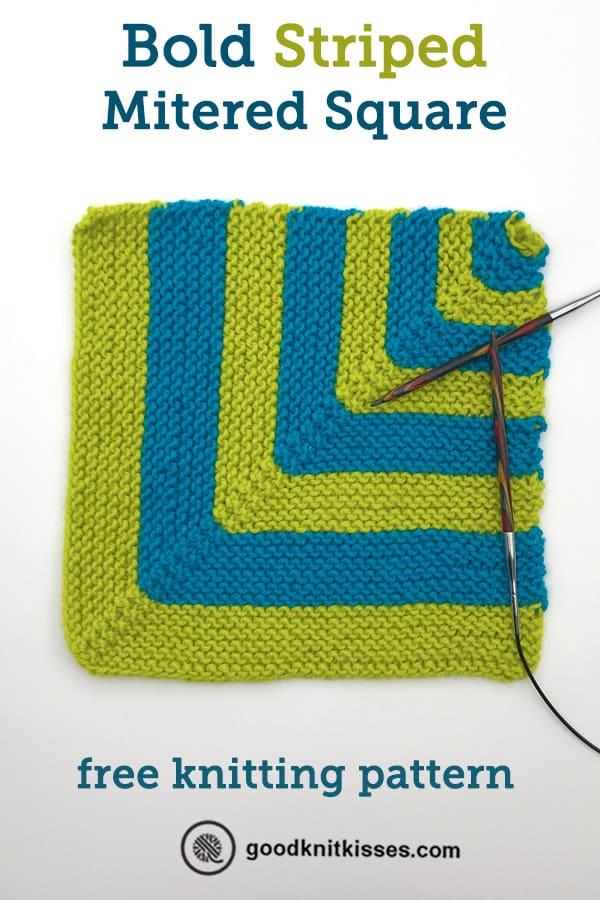 bold striped mitered square pin image