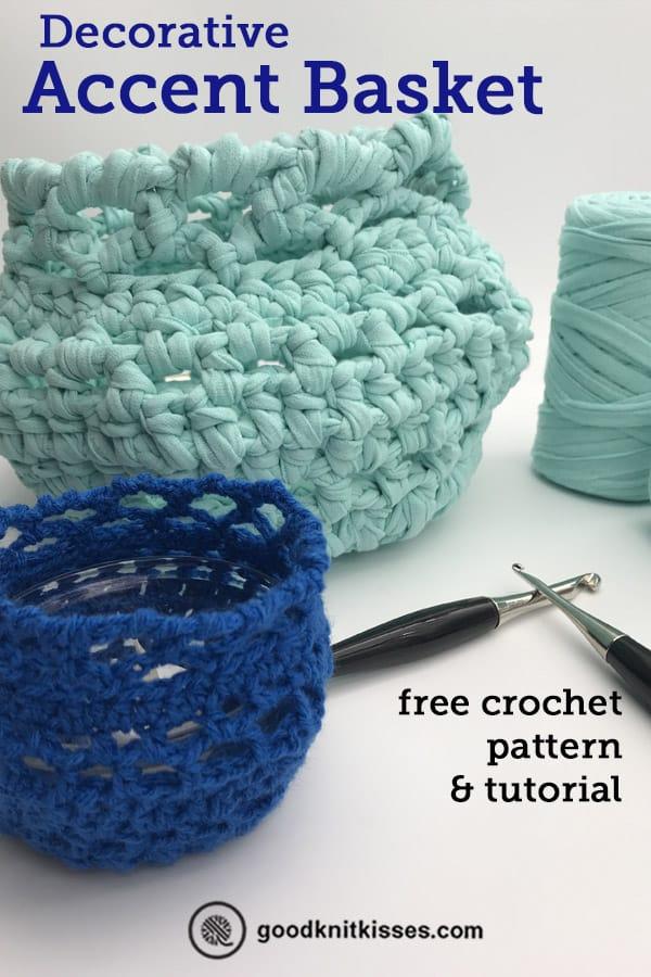 crochet a decorative accent basket pin image
