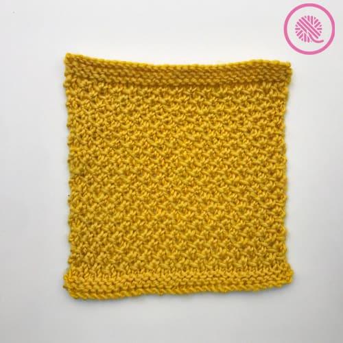 loom knit edelweiss stitch flat panel