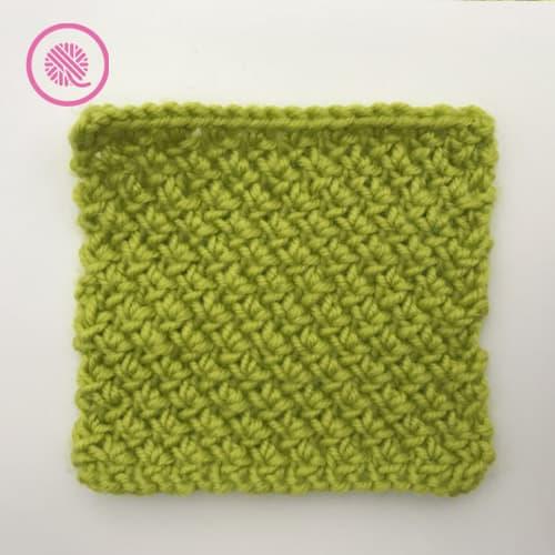 needle knit edelweiss stitch flat panel