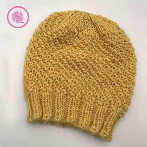 needle knit edelweiss hat