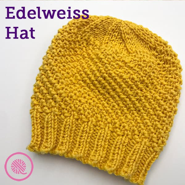 Learn to Make a Cozy Loom Knit Edelweiss Hat!