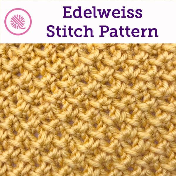 edelweiss stitch close up