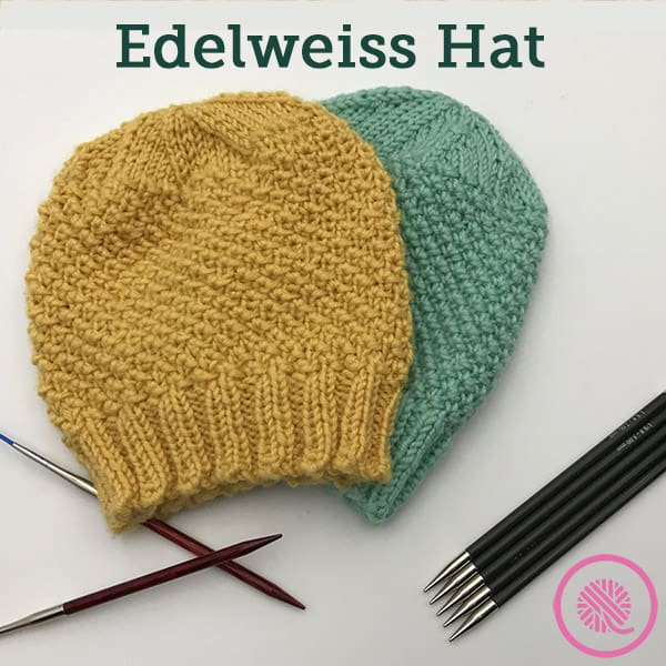 Make a Needle Knit Edelweiss Hat for Someone You Love!