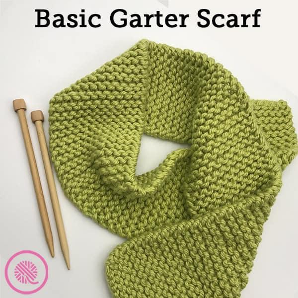 Make the Easiest Beginner Knitting Project: Basic Garter Scarf