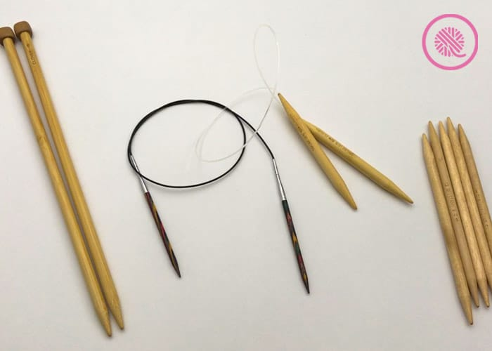 straight, circular and double pointed needles