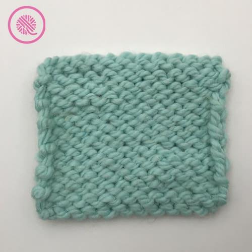 stockinette stitch back view