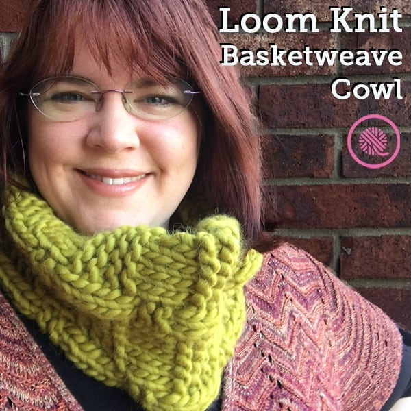 Stay Cozy with this Chunky Loom Knit Basketweave Cowl!