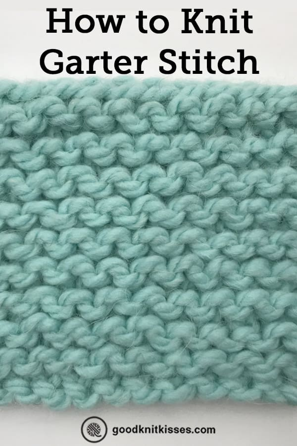 how to knit garter stitch for beginners pin image
