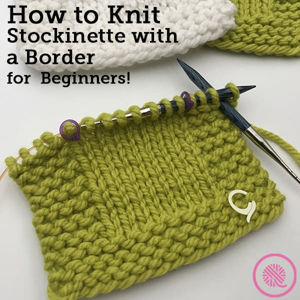 Lesson 3: How to Knit a Border with Garter Stitch