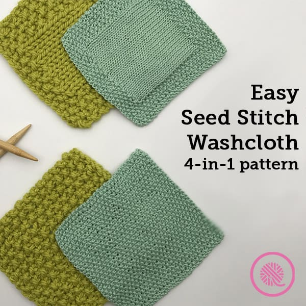 Easy Seed Stitch Washcloth: Free 4-in-1 Pattern for Beginners