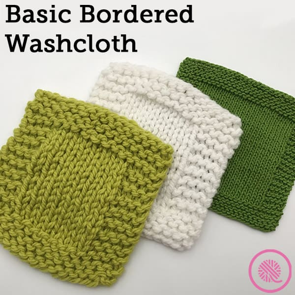 Basic Garter Border Washcloth Free Knitting Pattern for Beginners