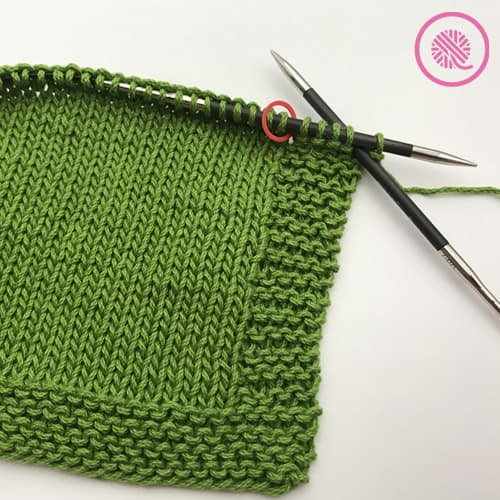 how to knit a border with garter stitch