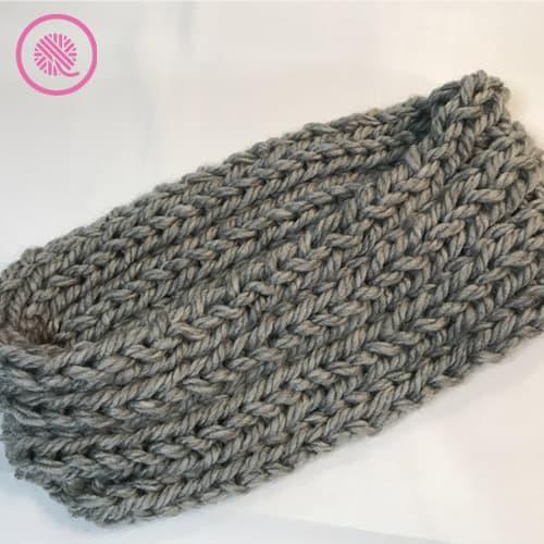 easy ribbed headband for beginner knitters