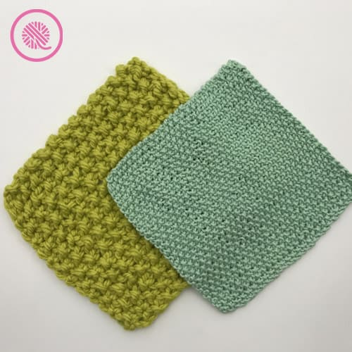 easy seed stitch washcloth all-over seed in bulky and medium weight yarn