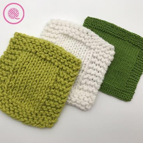 basic garter border washcloth