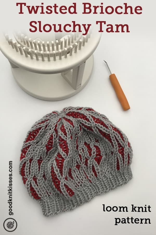 twisted brioche slouchy tam pin image
