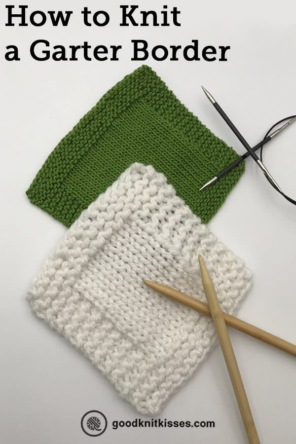how to knit a border pin image