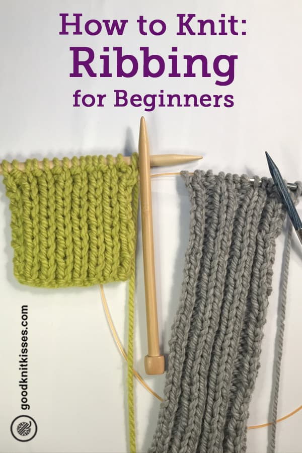 how to knit ribbing pin image