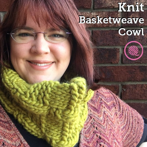 Knit a Chunky Basketweave Cowl with this Free Pattern!