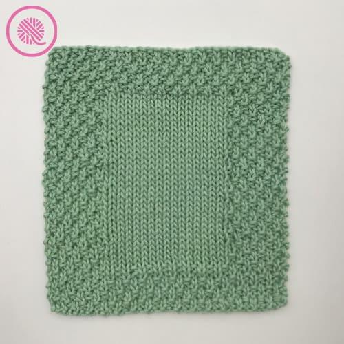 moss border washcloth in medium weight