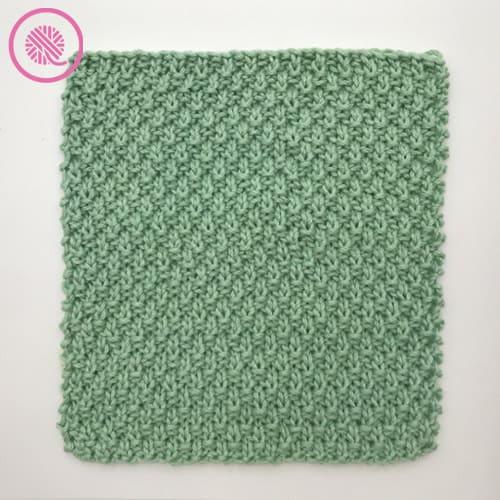 medium weight moss stitch washcloth all-over moss