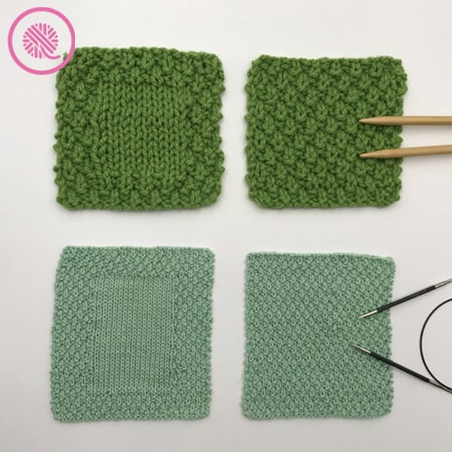 moss stitch washcloths