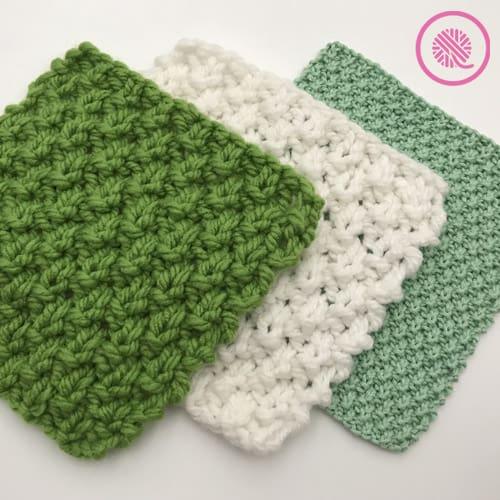 moss stitch washcloths all over moss
