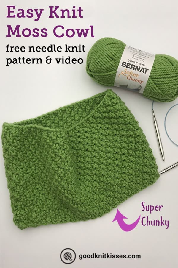 easy moss cowl pattern pin image