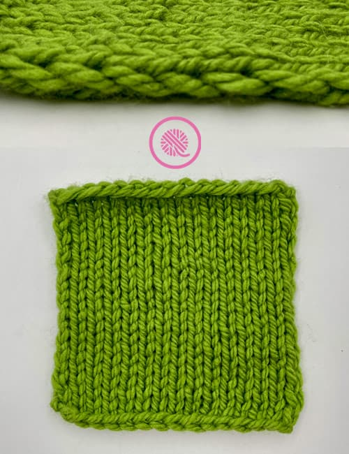 how to slip stitches - slip stitch edge with garter