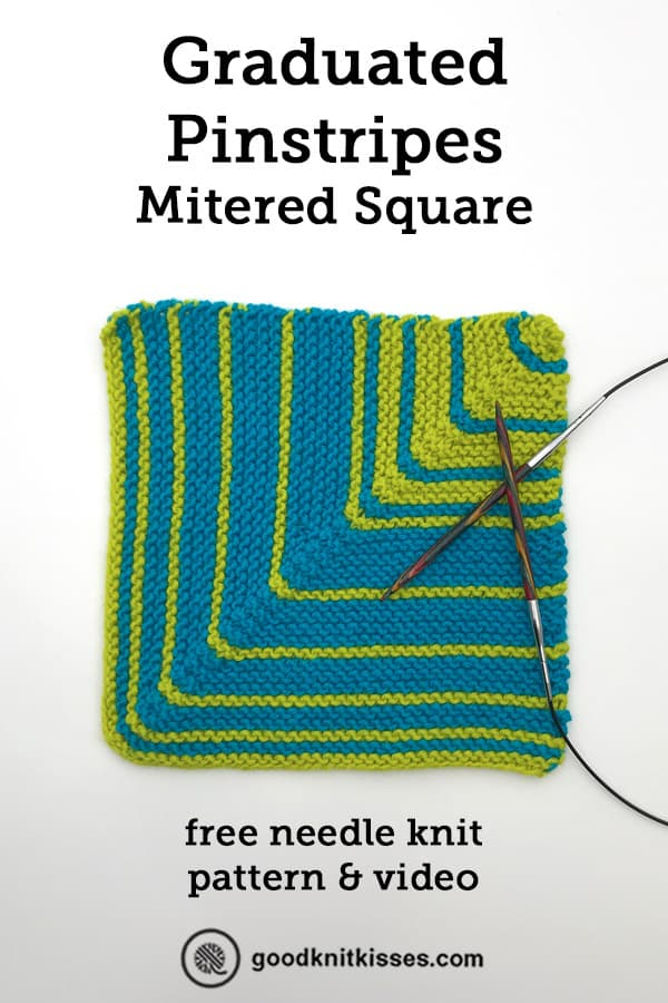 graduated pinstripe mitered square pin image