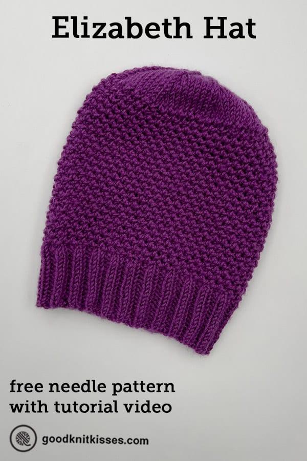 needle knit elizabeth hat pin image