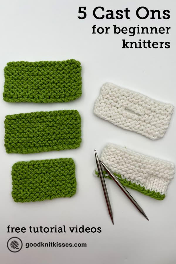 5 cast ons for beginner knitters