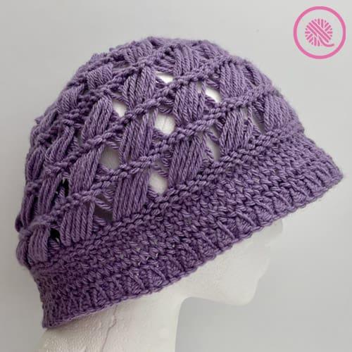 Breezy Retreat Hat in purple