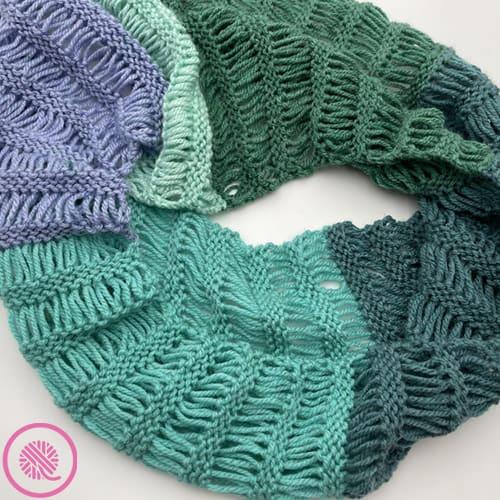 garter drop infinity scarf