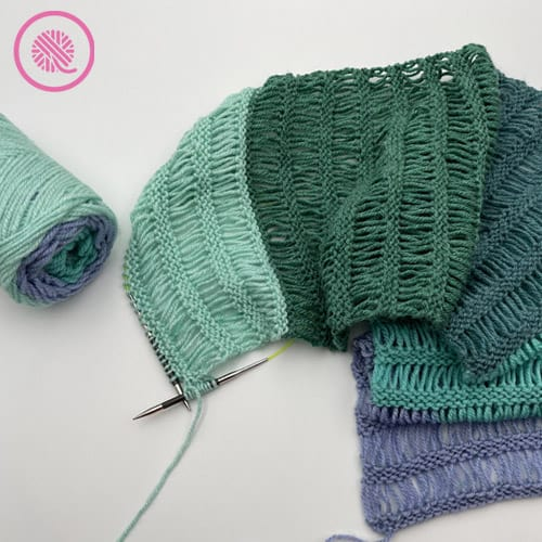 how to knit drop stitches sample