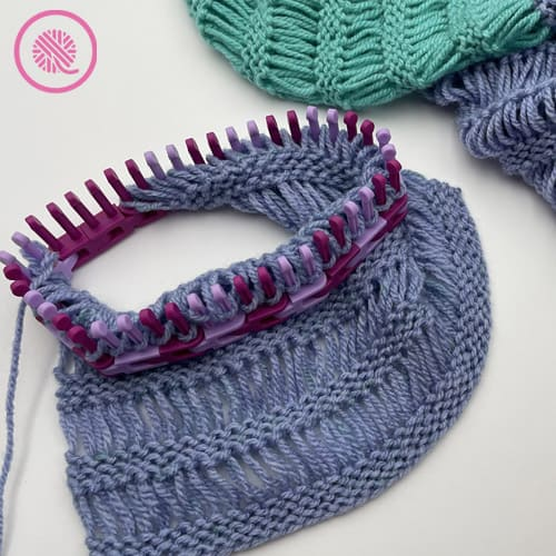 how to loom knit drop stitches