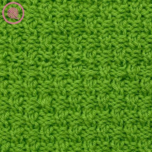 loom knit the ripple twist stitch close up