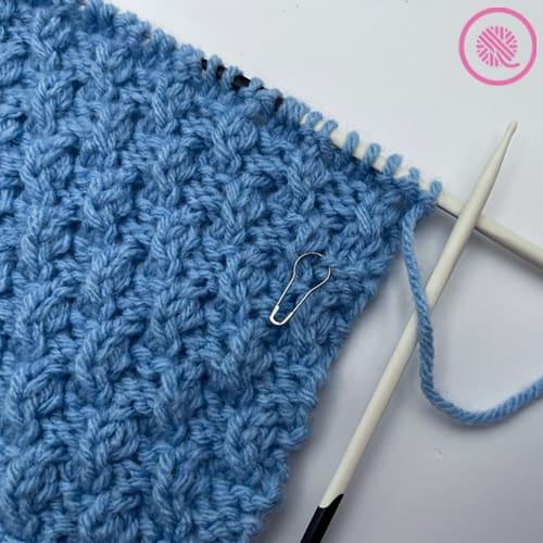 knit the ripple twist stitch progress picture