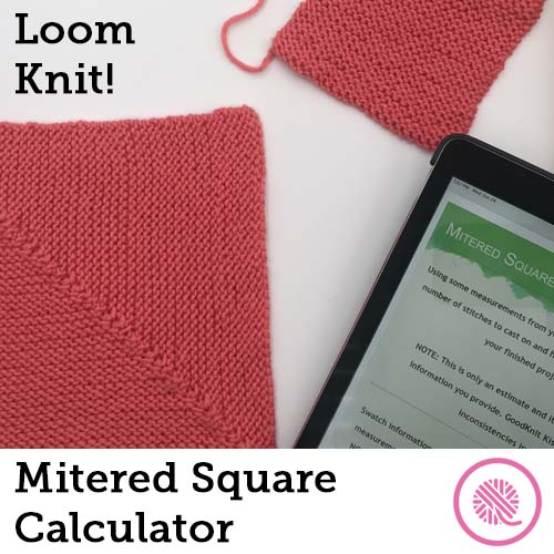 loom knit mitered square calcualtor