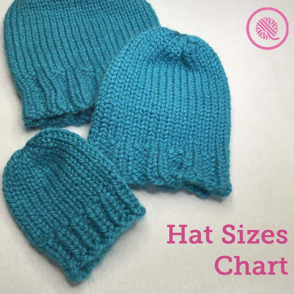 Hat Sizes Chart | 9 Common Sizes from Preemie to Adult