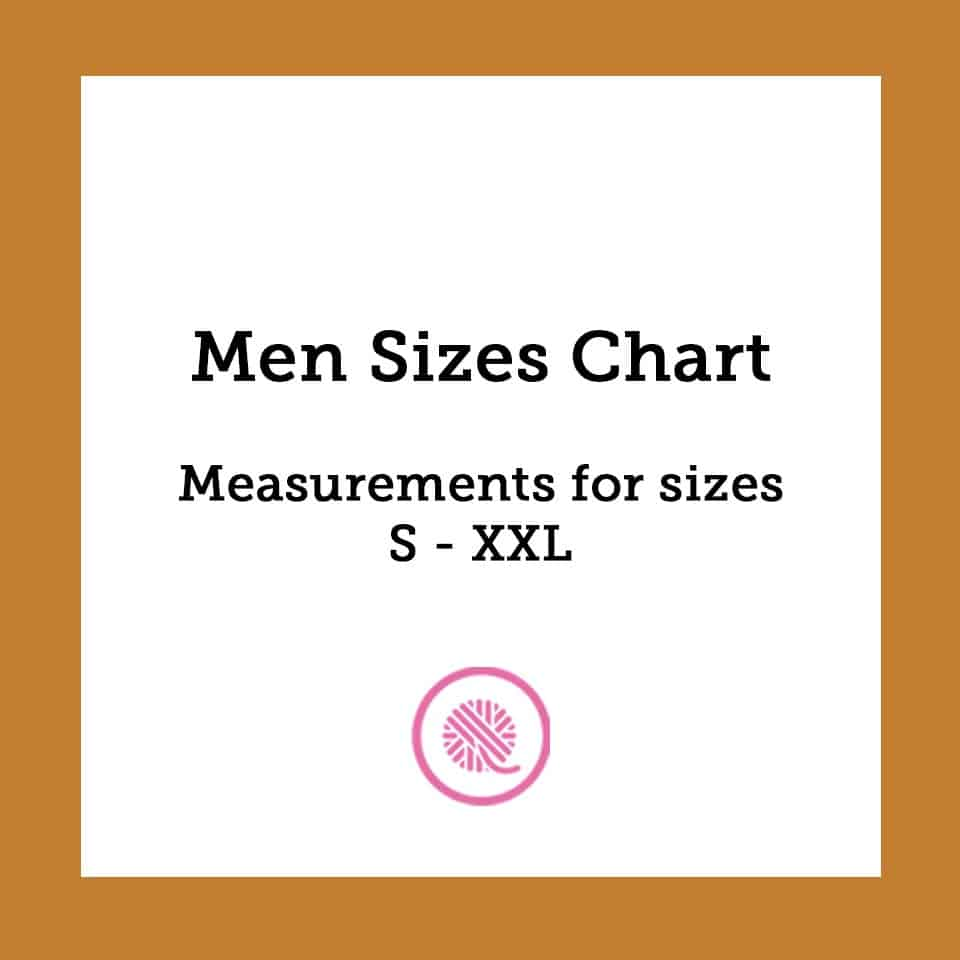 Men Sizes Chart | Common Body Measurements from Size S to XXL