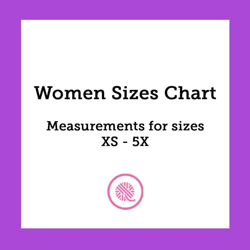 Women Sizes Chart | Common Body Measurements from XS to 5X