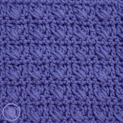 how to crochet crossed cluster stitch close up