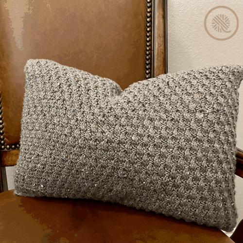 loom knit ripple twist pillow
