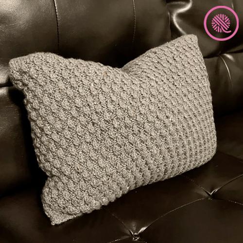 needle knit cozy ripple twist pillow