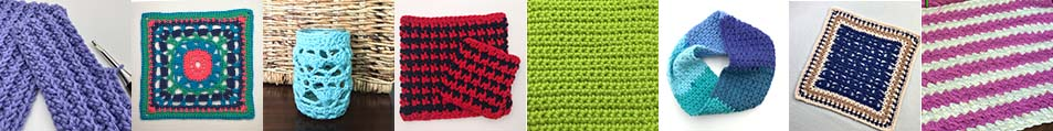 crochet pattern index collage image